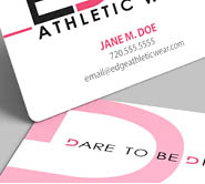 edge athletic wear, high quality business card design, best business card design, denver, colorado