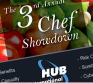 HUB International, chef showdown, cooking ad