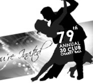 30 club charity ball, dance poster design