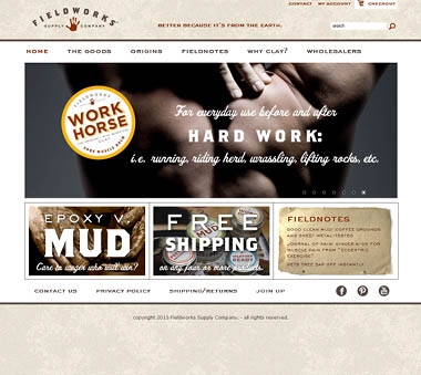 fieldworks supply simple clean web design